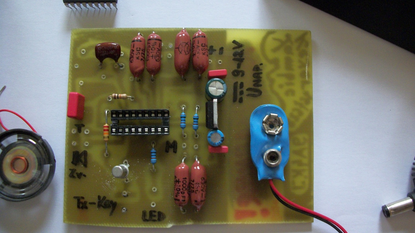 Electronic Keyer Circuit I Made This End Testedits Work Well The Software Is In Assembler From Dl4yhf